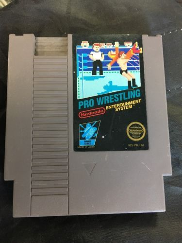 Nintendo Pro Wrestling (1987) NES Video Game - TESTED and WORKS