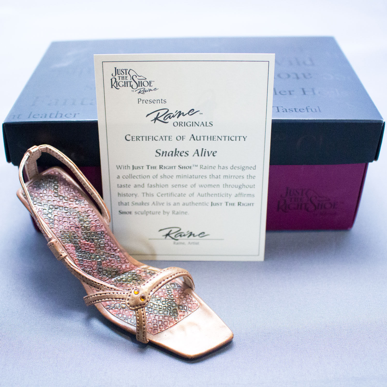 Lenox Willitts Just The Right Shoe By Raine Snakes Alive 25168 Nib Coa 13 07