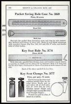 Pocket Rule Case Ruler Tools Brown & Sharpe 1941 Tool AD - $14.99