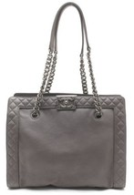 Auth CHANEL Shoulder Bag Grey Matelasse Boy Logo Quilted Inner Pockets B... - $3,176.91