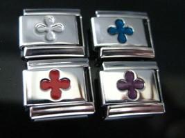 Fleur De Lis Italian charm Inlaid - 4 color choices - fits Classic Bracelet - $2.59