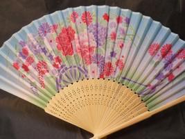 Colorful Flower Floral Silk Handheld Fan Folding Fans Asian Hand Fan  #F... - $10.99