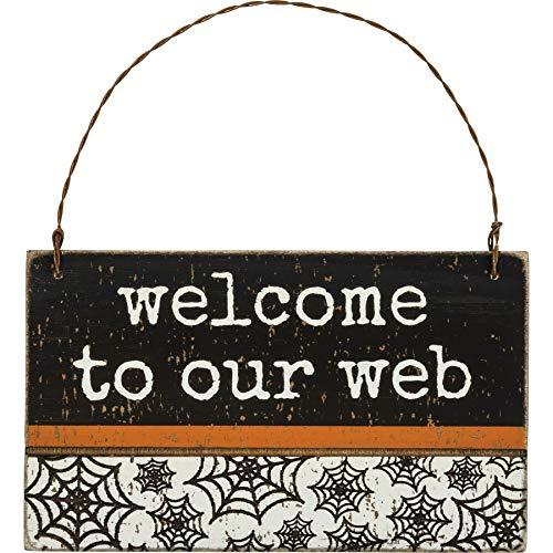 Primitives by Kathy Ornament - Welcome to Our Web Hanging Sign - $12.95