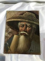 Lot China Chinese Collectibles Signed Print Old Man Macau Coin Panda Metal Ball image 2