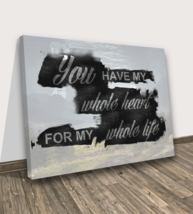 Love Quote Wall Canvas Print Life Heart Bedroom Livingroom Decoration Modern Art - $62.68+