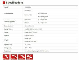 Servore ARC Shield 2 Visor Auto Darkening Welding Protective Goggle Arcshield-2 image 5