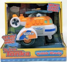 Mein Erstes Tonka Wackel Räder Hubschrauber Orange Licht und Geräusche F... - $21.31
