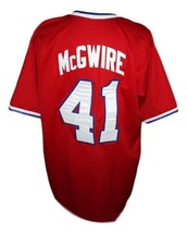Marc McGwire #41 Team USA Retro Baseball New Jersey Red Any Size image 2