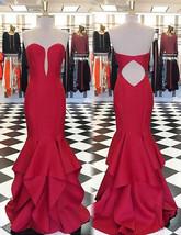 Elegant Red Sweetheart Mermaid Prom Dresses Evening Dress for Women - $148.99+