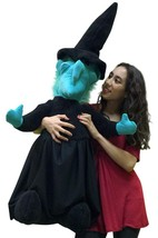 American Made Giant Stuffed Witch 40 Inches Tall Halloween Big Plush Mad... - $97.11
