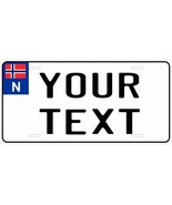 Norway Euro Tag License Plate Personalized Custom Auto Bike Moped Motorc... - $10.99+
