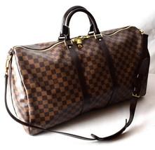Auth Louis Vuitton Damier Keepall 55 band Villiers N41414 Boston bag - $1,840.50