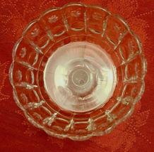 Vintage Standing Candy Dish Compote Open Stemmed Starburst Pattern image 3