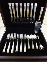 Golden Scroll by Gorham Sterling Silver Flatware Set Service 34 Pieces - $2,100.00