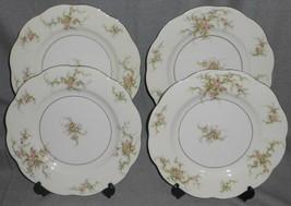 Set (4) Theodore Haviland ROSALINDE PATTERN Dinner Plates NEW YORK - $102.95