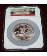 2014 China PANDA 5 oz Silver SMITSONIAN INSTITUTION NGC PF 70 ULTRA CAMEO  - $462.83