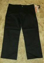 "Dickies Girl's Stretch Fabric School Uniform Pants 32.5""x 24"" 4 Pockets ... - $12.82"