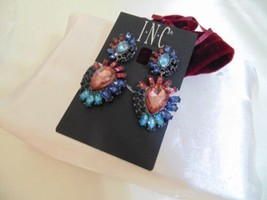 Inc International Concepts 2-1/4 Grey Tone Crystal Drop Earrings S207 $26 - $11.51