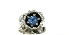 Ladies Size 5 Sterling Silver Sky Blue Topaz Fashion Ring No, 2101 image 2