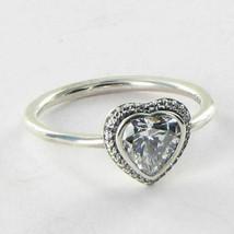 Pandora 190929CZ Ring Heart Cubic Zirconia Sterling Silver Sz 6 52 NWT B... - $48.49
