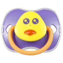 Lovely DUCK Baby Pacifier Infant Silicone Newborn Nipple Purple