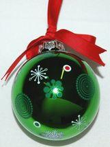 Ganz EX17055 Christmas Tree Ball Ornament Color Green Glass image 3