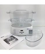 Oster Electric 2-Tier 6 Quart Food Steamer Rice Cooker Model 5712 Complete - $39.74
