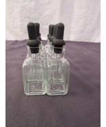 Square Glass Dropper Pipette Bottles Vials Lab Glass Crafts Decoration P... - $26.84