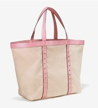 Nwt Victoria's Secret Limited Edition Beige Canvas Pink Gold Tote Bag 2017 - $28.04