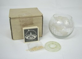 Vintage Nestle Nescafe Coffee World Globe Floating Candle w Box & Instru... - $19.79
