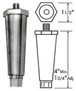 "Appliance 4"" Zinc Die-Cast With Satin Nickel Finish Leg 4"" ADJ 5/16-18 thrd - $14.84"