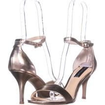 Steve Madden Vienna Ankle Strap Sandals 042, Gold, 10 US - $28.79
