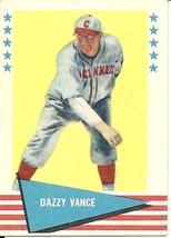 1961 Fleer Dazzy Vance 81 Reds EX - $1.00