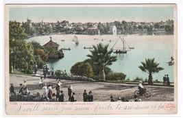 Boating West Lake Park Los Angeles CA 1905c postcard - $5.45