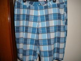 Men's Quiksilver Amphibians Blue Plaid Hiking Water Shorts Sz 32 Or 36 - $35.63