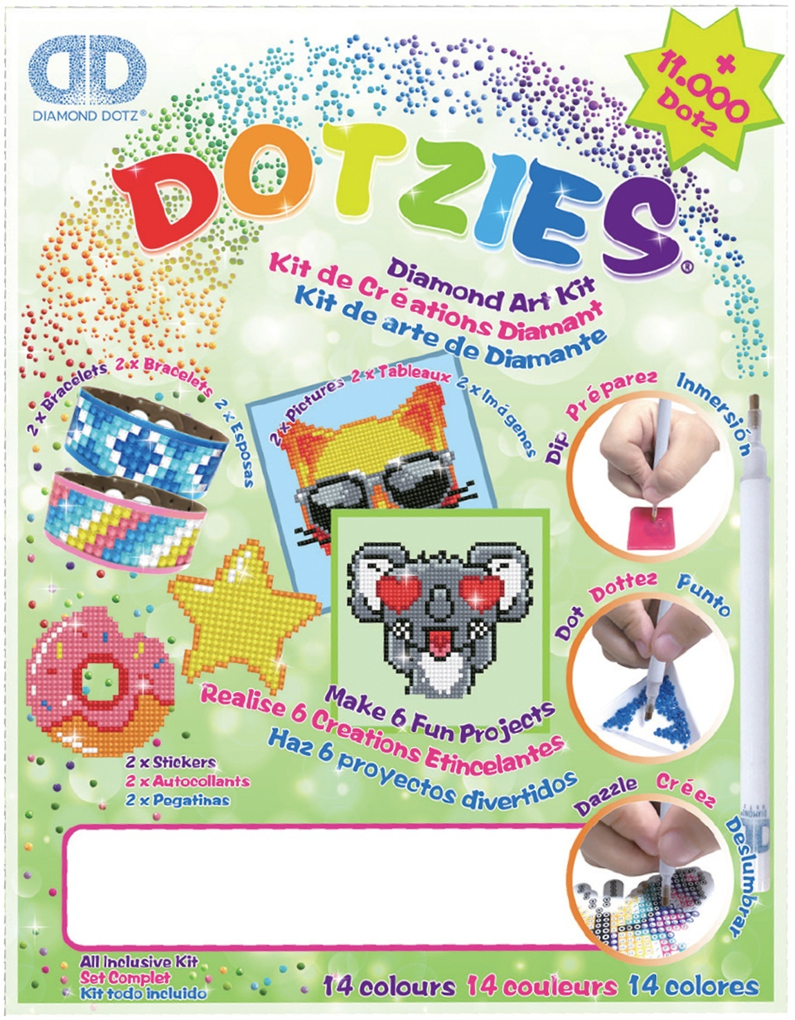 Primary image for Diamond Dotz DOTZIES Variety Kit 6 Projects-Green