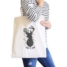 Make It Rein Vintage Reindeer Natural Canvas Bags - $19.89 CAD