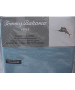 Tommy Bahama Breeze Blue Relaxed Stone Washed Cotton Percale Sheet Set Full - $72.00