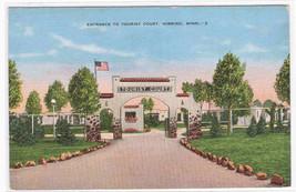 Tourist Court Motel Hibbing MN linen postcard - $5.45
