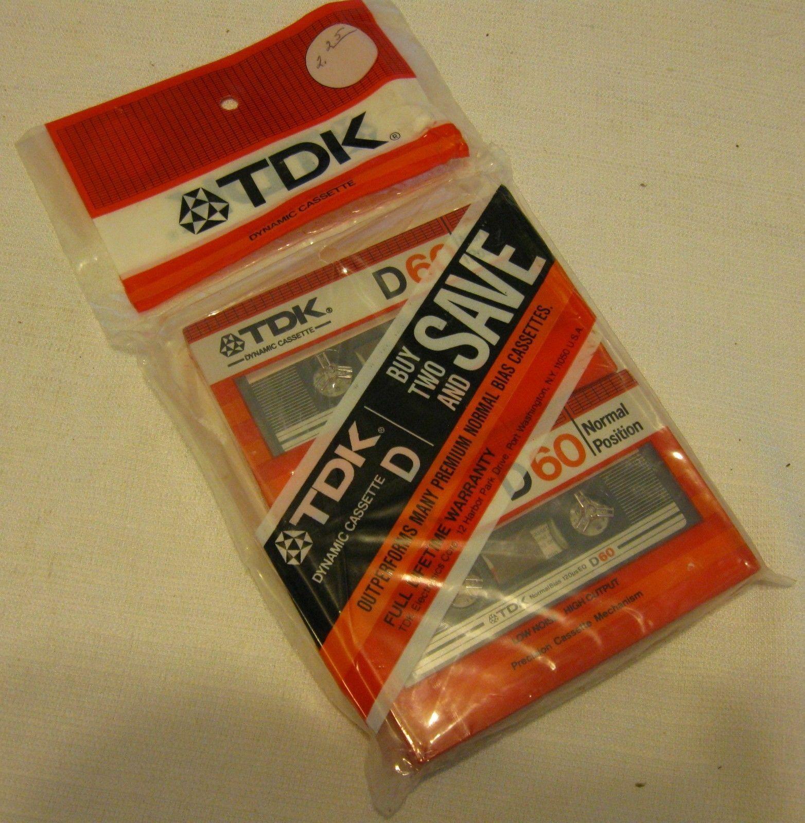 36 NOS TDK 60 Minute Blank Audio Cassette Tapes Vintage SEALED Type 1