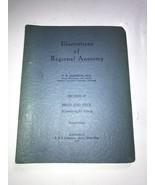 Illustrations of Regional Anatomy Section II: Head and Neck, E. B. Jamie... - $233.74