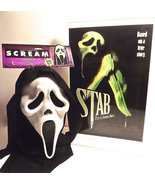 Scream Fearsome faces Mask With Display Poster VintageHorror Wes craven - $100.00