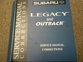 2002 Subaru Legacy Service Repair Shop Manual Corrections FACTORY FEO BOOK 02 - $49.69