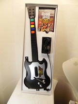 Guitar Hero PS2 black guitar game cord perfect condition in the box no s... - $20.67