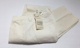 NWT TALBOTS WOMENS WHITE HERITAGE-FIT STRAIGHT-LEG CORDUROY PANTS SIZE 4... - $23.75