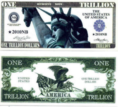 Trillion Dollar Novelty Money Bills NEW - $2.00