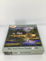"""Bits And Pieces Studio Puzzle Camping On The Lake By Jane Munro 500 Piece 16x20"""" - $9.49"""