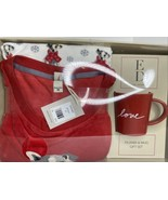 Ellen Degeneres Dog Flannel Pajamas 2 Piece Mug Red Love Women Size Medi... - $53.96