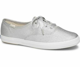 Keds WF58391 Women's Champion Matte Brushed Metallic silver, 8.5 Med - $52.54 CAD