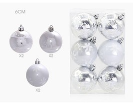 Silver White Theme Decor Ball Bauble Hanging Ornaments For Christmas Tre... - $14.99+